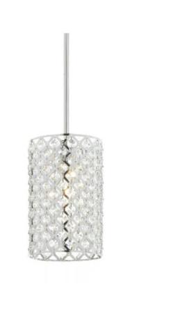 Home Decorators Collection 1-Light Chrome and Crystal Mini P