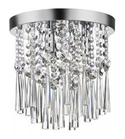Home Decorators Collection 10 in. 3-Light Chrome and Crystal