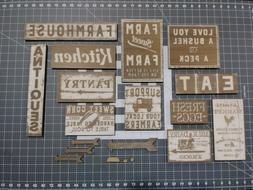 13 SIGN KIT Rustic Wood Home Decor Hanging Country Farmhouse