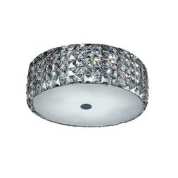 Home Decorators Collection 14 In. 5-light Chrome Flush Mount