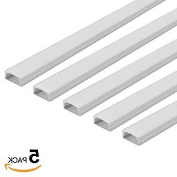 5 PACK of 1M/3.3ft U-Shape Aluminum Channel for Surface and