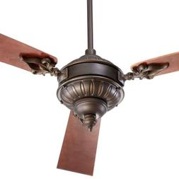 """Quorum 27603-86, Brewster Oiled Bronze 60"""" Ceiling Fan with"""