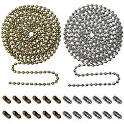 2pack Beaded Pull Chain Extension with Connector 10 Feet Bea