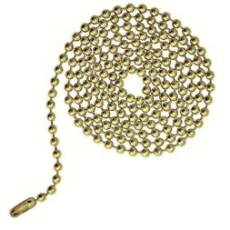 3 Feet Brass Plated Ball Chain ~ Ceiling Fan Light Pull  3.2