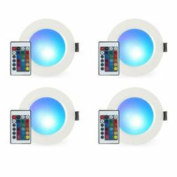 3 Inch 5W RGB Recessed LED Ceiling Panel Light Color Changin