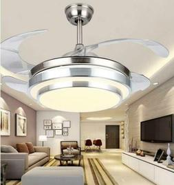 "36"" Ceiling Fans with Lights Remote Modern Invisible Chandel"