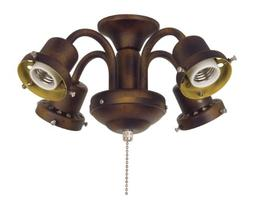 4-Light Ceiling Fan Light Kit Traditional Fitter in Tortoise