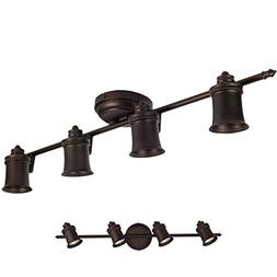 4 Light Track Lighting Wall & Ceiling Mount Fixture Kitchen