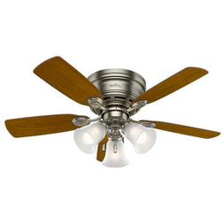 """42"""" Antique Pewter 5 Blade Ceiling Fan Dimmable Transitional"""