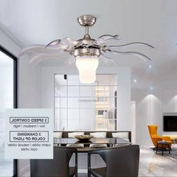 """42"""" Ceiling Fan with LED Light and Remote Control Modern S"""