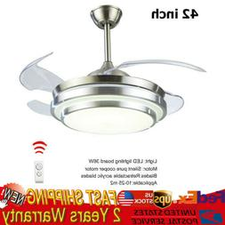 "42"" Ceiling Fan With Light Remote Control LED Ceiling Lamp D"