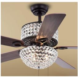 42 crystal ceiling fans with light led
