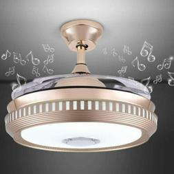42 inch Bluetooth Music Ceiling Fans with Lights and Remote