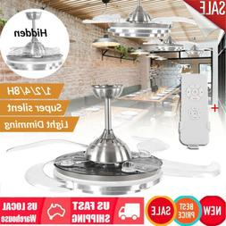 42 invisible ceiling fan lamp w remote