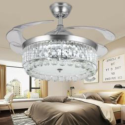 """42"""" Invisible Ceiling Fan Light Dining Room Chandelier Lamp"""