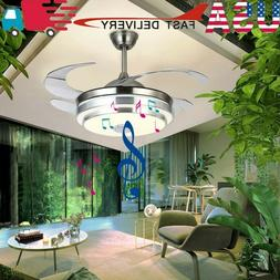 """42"""" Invisible LED Ceiling Fan Light Remote Control Chandelie"""