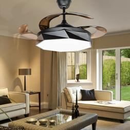 """42"""" Macaron Remote Invisible Ceiling Fan Light LED Chandelie"""