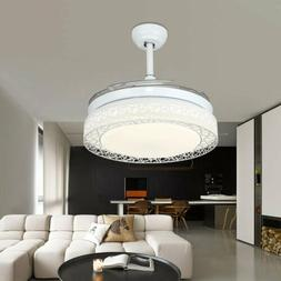 42'' Modern Ceiling Fan Light LED Dimmable Remote Control Re