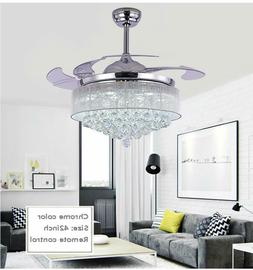 "42"" LED 36w Chandelier Crystal Living Room Invisible Ceiling"