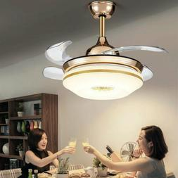 """42""""Remote White,Neutral,Yellow Lights Invisible Ceiling Fan"""