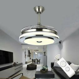 42inch LED Invisible Ceiling Fan Light Dining Room Chandelie