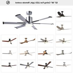 "52"" 56'' Indoor Ceiling Fan with LED Light Remote Control 2"