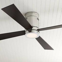 Editorial Pick 52 Casa Vieja Revue Brushed Nickel Led Ceiling Fan