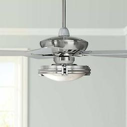 """52"""" Art Deco Ceiling Fan with Light LED Dimmable Remote Nick"""