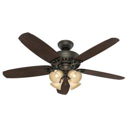 "Hunter 52"" Ceiling Fan with 4 Lights & Reversible Blades New"