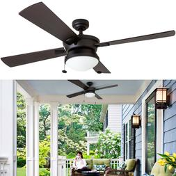 52 ceiling fan with led light fixture