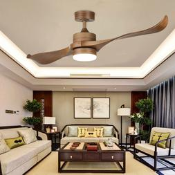 52'' Contemporary Ceiling Fan LED Panel Light & Remote Contr