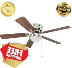 52-in Brushed Nickel Indoor Flush Mount Ceiling Fan Best Har