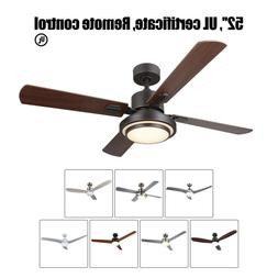 """52"""" Low Profile Ceiling Fan with Light & Remote UL Listed Ne"""