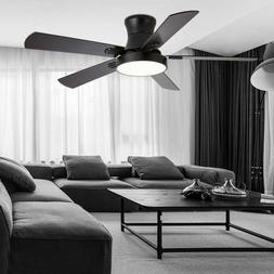 52'' Modern Ceiling Fan Light LED Dimmable Remote Control W/