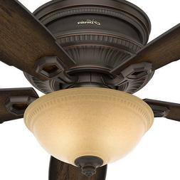 """52"""" Onyx Bengal Bronze Ceiling Fan Low Profile Transitional"""