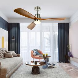 """52"""" Reversible Ceiling Fan with LED Light Kit & Remote Contr"""