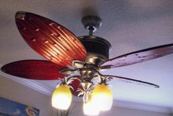 """52"""" Unique Bamboo Ceiling Fan + Remote Pewter Branch Light F"""