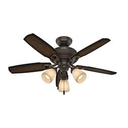 "Hunter Fan Company 52233 Hunter 44"" Ambrose Three Onyx Benga"