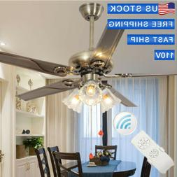52inch ceiling fan lamp remote control light