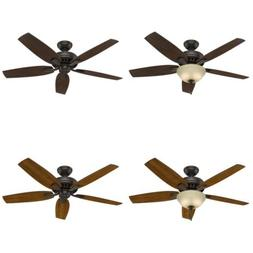 "Hunter 53311 Newsome Ceiling Fan with Light, 52""/Large, Prem"
