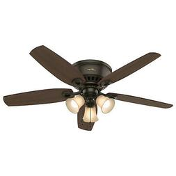 "Hunter Fan Company 53327 52"" Builder Low Profile New Ceiling"