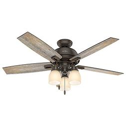 "Hunter Fan Company 53336 Hunter 52"" Donegan Onyx Bengal Ceil"