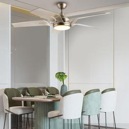 56-Inch Contemporary Ceiling Fan Brushed Nickel LED Light Ki