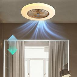 58cm Invisible Dimmable Ceiling Fan Light Remote Control Cha