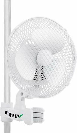 "VIVOSUN 6"" inch 2-Speed Clip On Oscillating Fan for Hydropon"