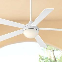 """60"""" Casa Odessa White Damp Rated LED Ceiling Fan"""