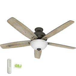 60 inch Indoor Ceiling Fan with Light Remote Farmhouse Decor