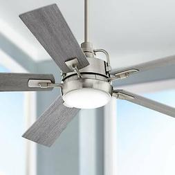 """60"""" Farmhouse Ceiling Fan with Light LED Dimmable Remote Bru"""