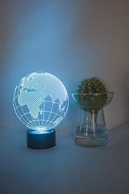 Loveboat 7 Color Amazing Optical Illusion 3D Glow LED Lamp A