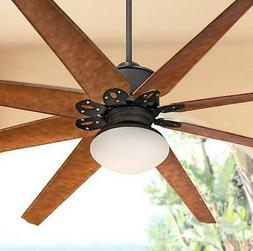 """72"""" Outdoor Ceiling Fan with Opal Glass Light LED Remote Bro"""